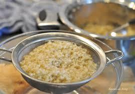 Hoe krijg ik quinoa uit m'n vergiet