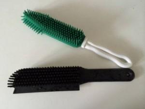 rubberen borstel voor verwijderen van stof van kleding